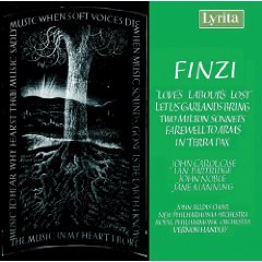 Finzi: Loves Labours Lost, Let Us Garlands Bring - Lyrita album cover