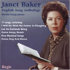 Janet Baker: English Song anthology - Regis album cover
